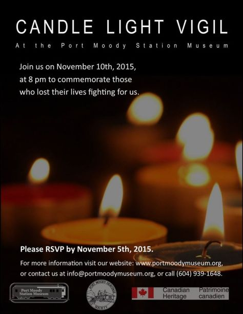 Nov 10, 2015 Candlelight Vigil for those Lost in Wars