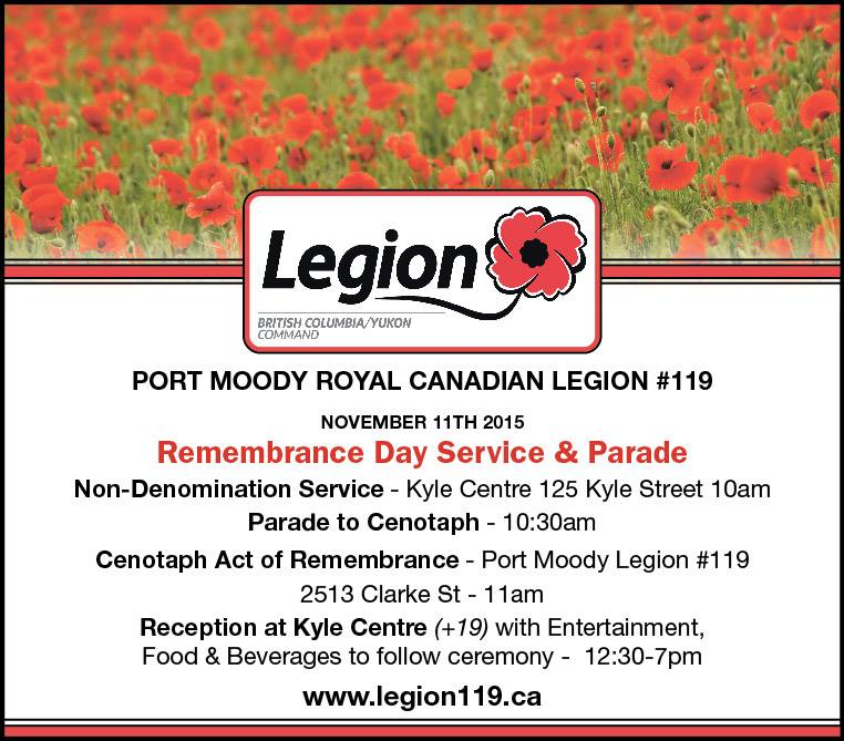 Legion 119 Poster for Remembrance Day 2015