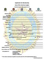 Ladies Auxiliary Membership