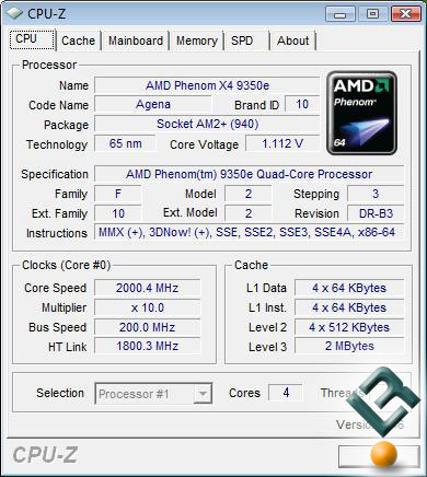 AMD Phenom 9350e CPUZ diambil dari Legitreviews.com
