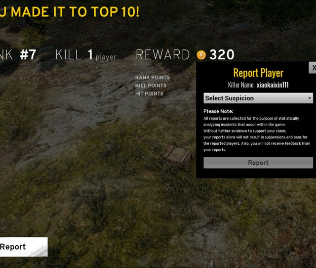 Pubg Report Player The Cheating Hacks