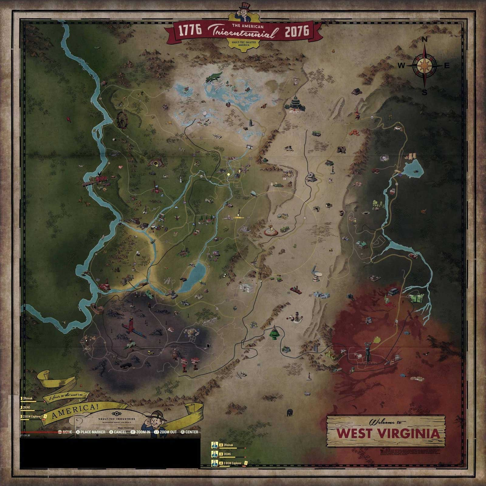 Fallout 76s Huge Map Details The Massive Game World