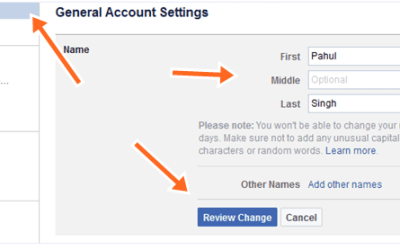 How To Change Facebook Profile Name & FB Page Name