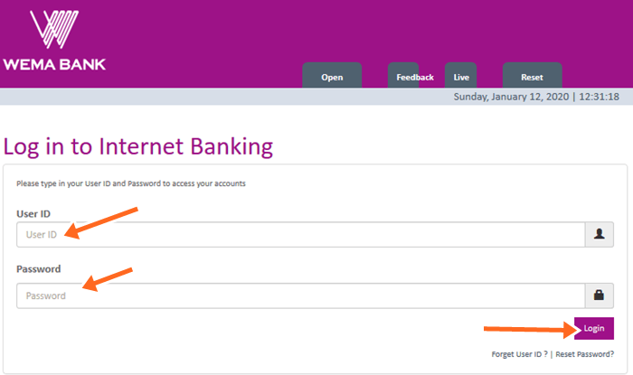 Wema Agent Account Login & Wema Agent Banking Sign Up Guidelines