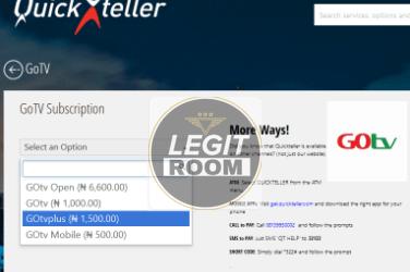 How To Renew GOtv Subscription Via Quickteller