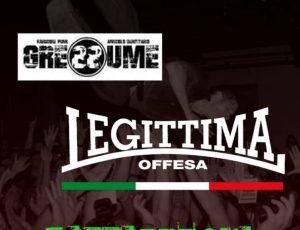 Legittima Offesa live 05/10/2019 near Bologna
