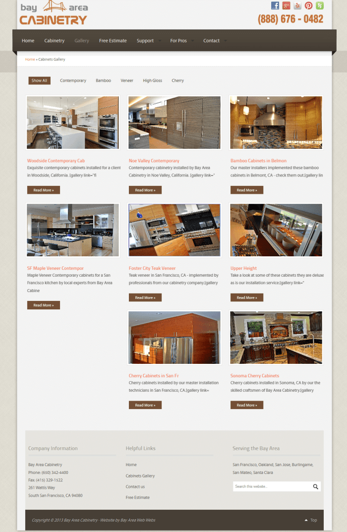 Gallery Page for Bay Area Cabinetry