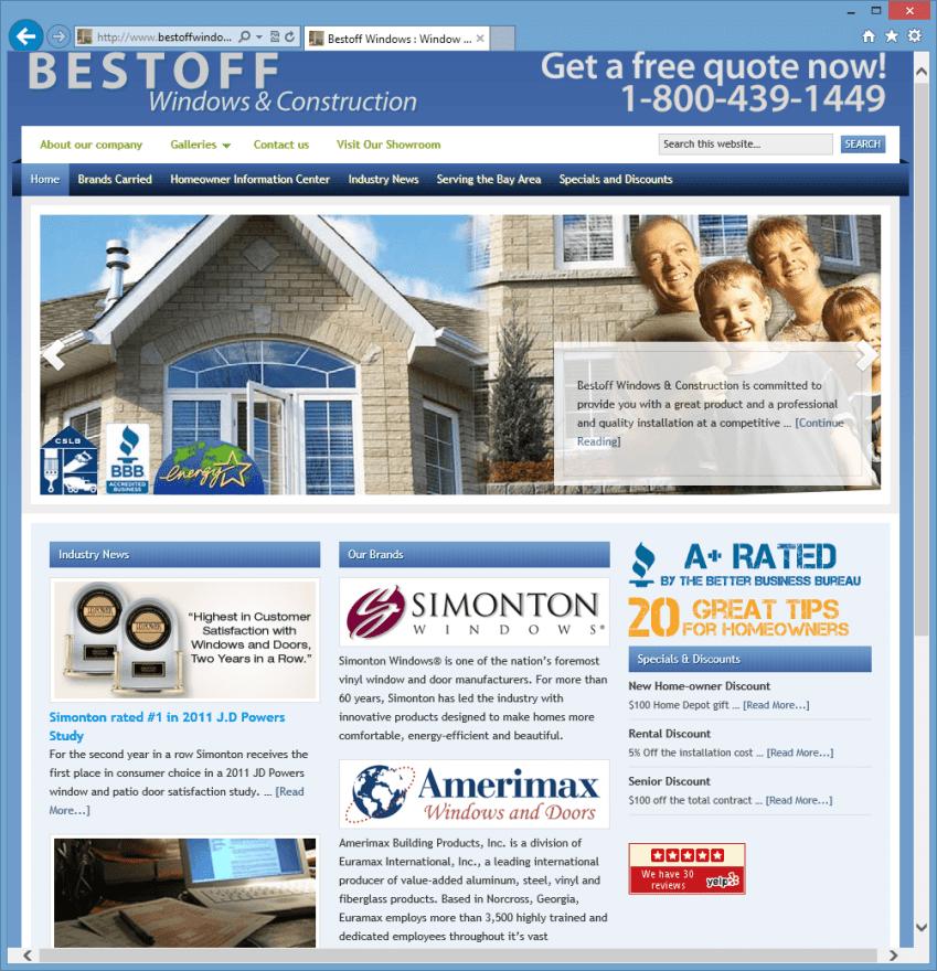 Bestoff Windows Homepage