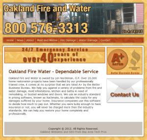 Oakland Fire & Water