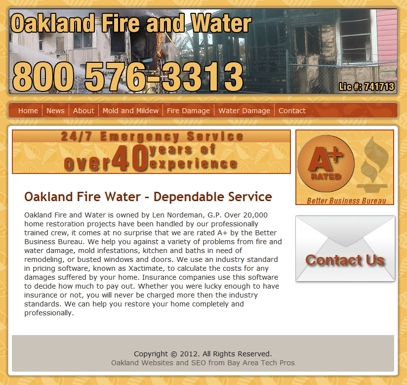 Oakland Fire & Water