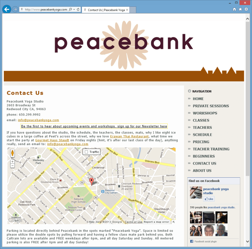 Peacebank Contact Page