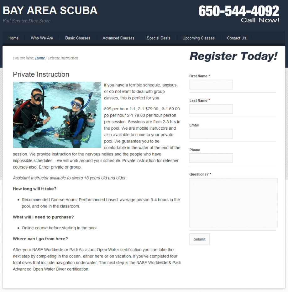 Bay Area Scuba Services