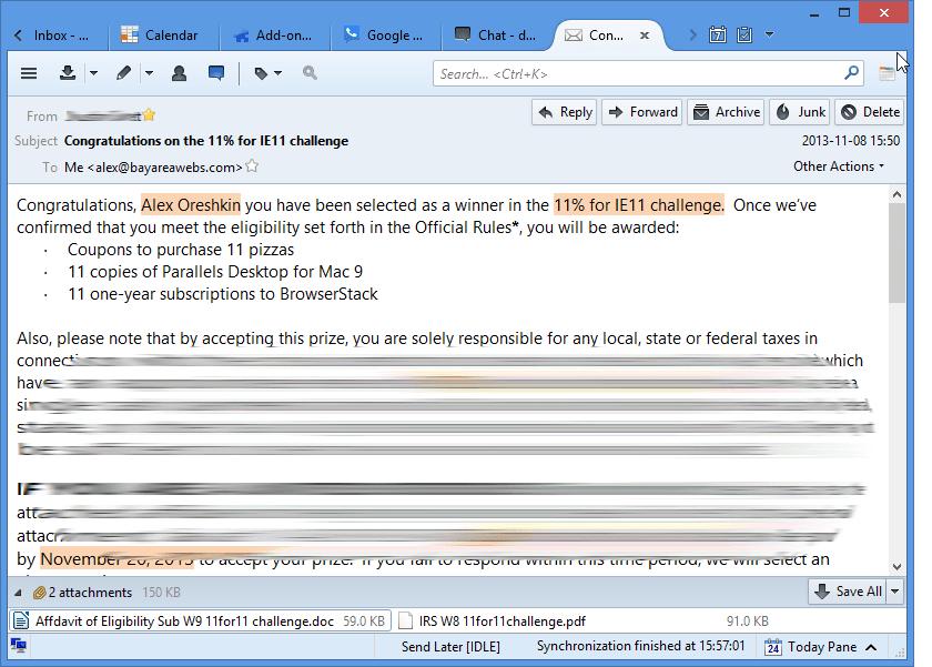 Outlook.com with desktop mail client Thunderbird
