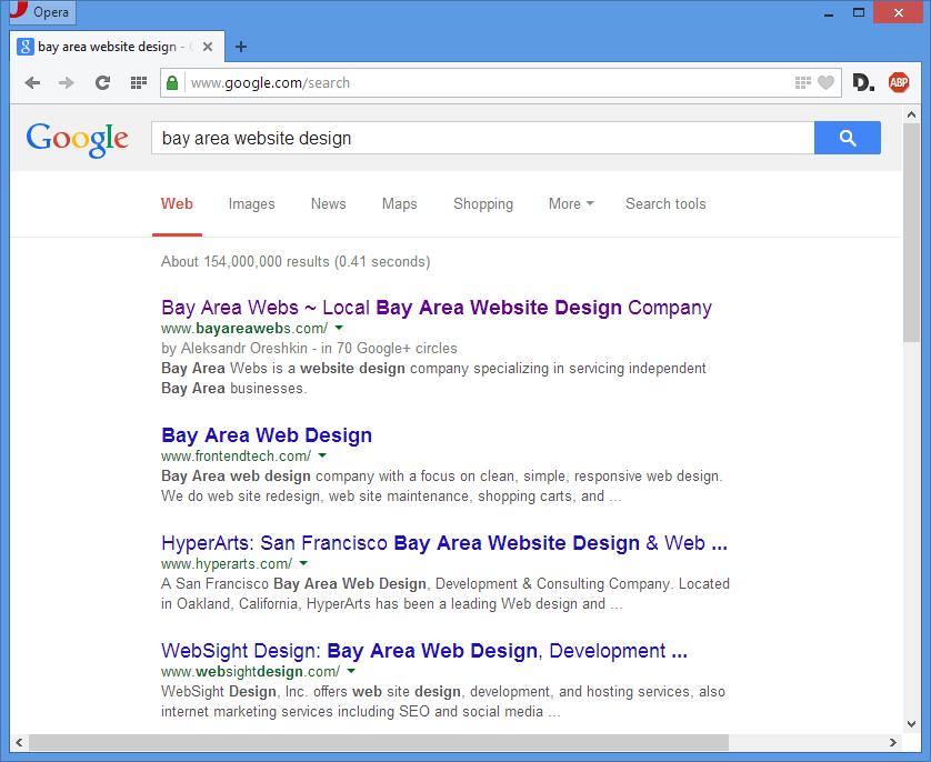 Bay Area Website Design