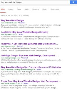 Bay Area Website Design Search