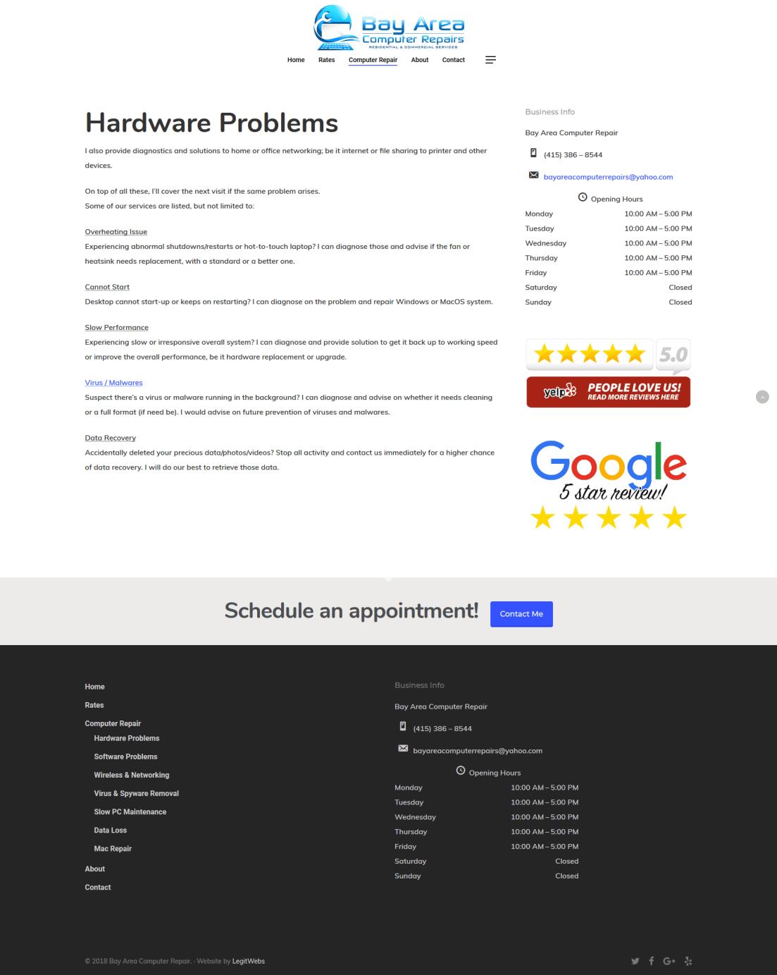 Bay Area Computer Repairs HWProbs