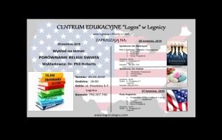"""Centrum Edukacyjne """"Logos"""" w Legnicy wraz z grupą z Atlanty w USA Zapraszają na:"""