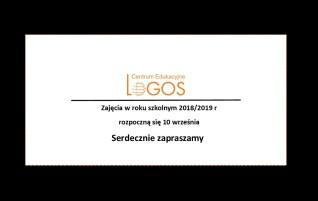 Zajęcia w roku szkolnym 2018/2019
