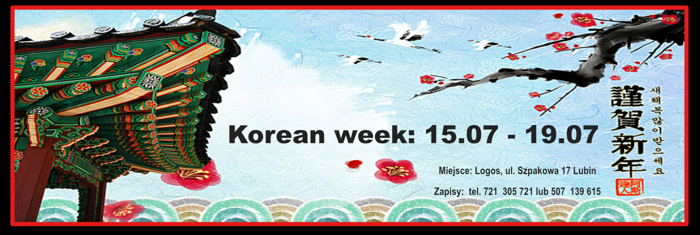 Korean week: 15.07 – 19.07