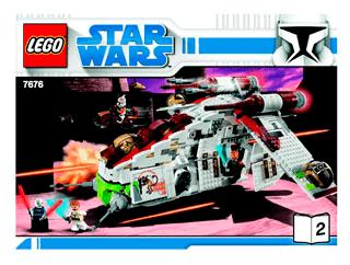 Republic Attack Gunship 7676 Lego Star Wars Tm Building