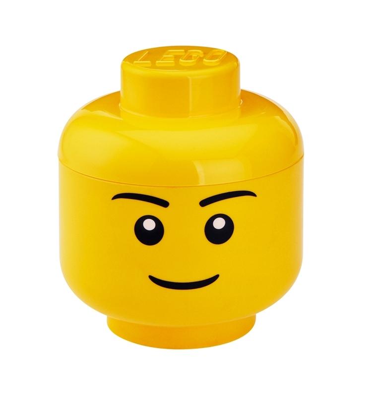 lego boy storage head large