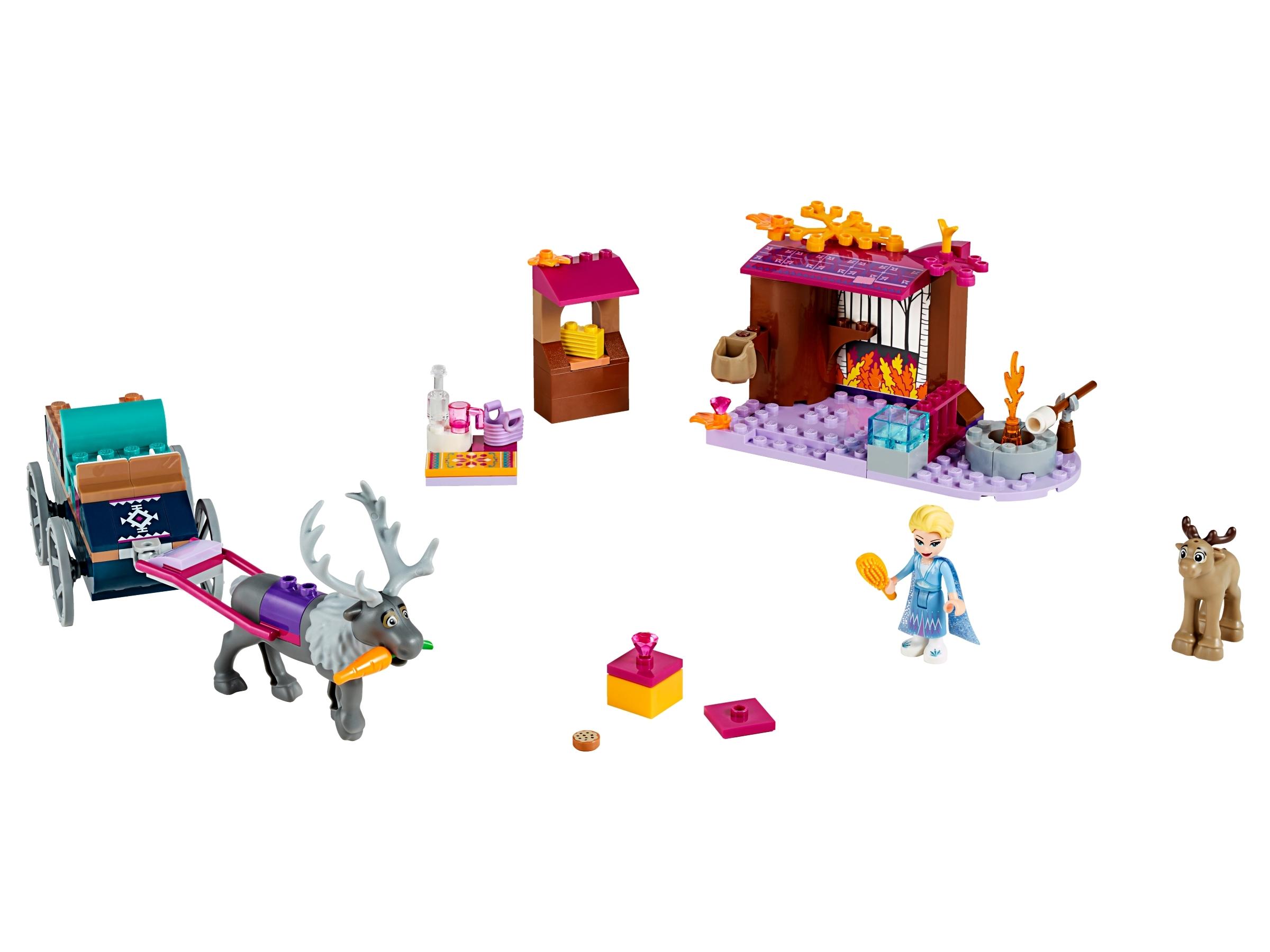 l aventure en caleche d elsa 41166 lego frozen 2 boutique lego officielle fr