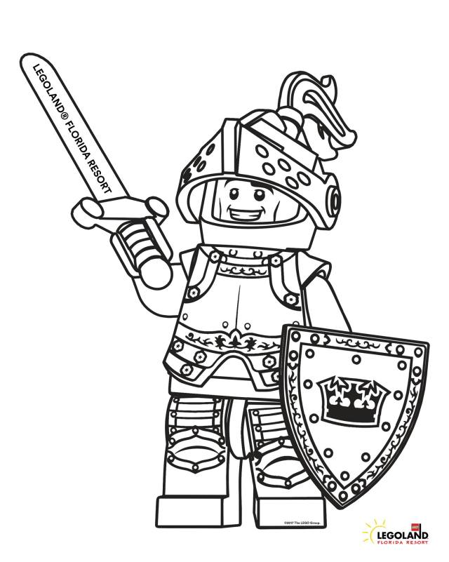 Coloring Sheet: LEGO® Knight