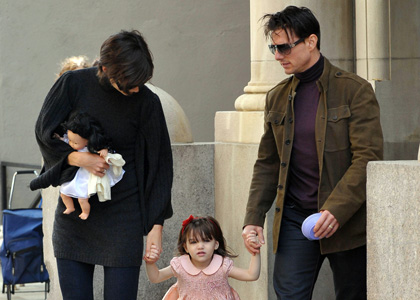 Tom Cruise et Katie Holmes Petite sortie en famille