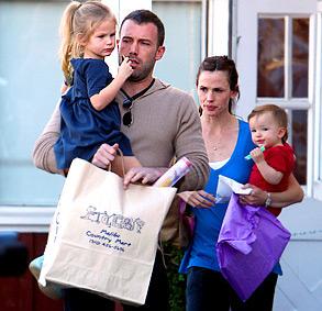 Ben Affleck -Jennifer Garner-Enfants -Photo