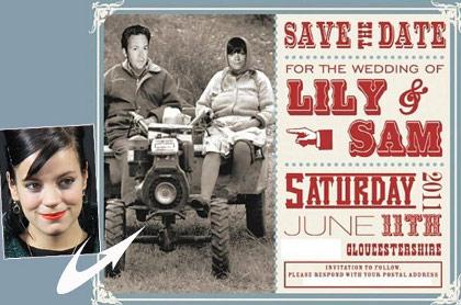 Lily Allen et Sam Cooper- Découvrez le carton d'invitation pour leur mariage