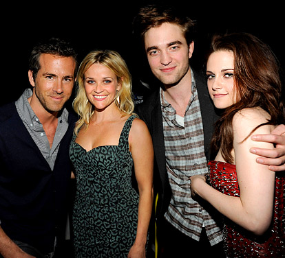 Robert Pattinson et Kristen Stewart- Ryan Reynolds et Reese Witherspoon