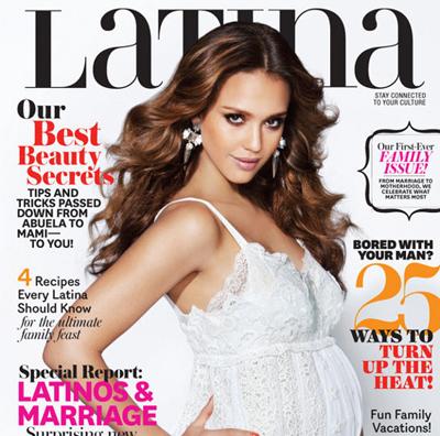 Jessica Alba parle maternité dans Latina