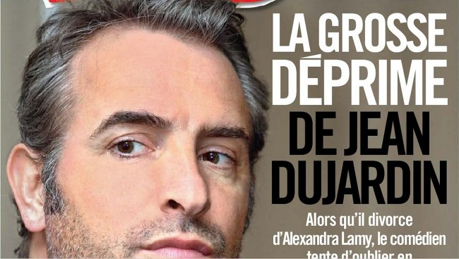 Jean dujardin en d prime cause d 39 alexandra lamy for Jean dujardin deprime