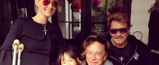 Johnny Laeticia Hallyday Mickey Rourke