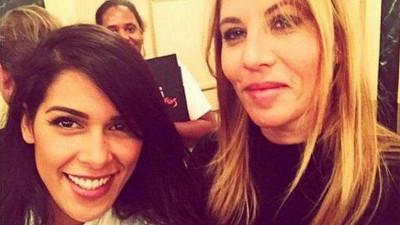 Mathilde Seigner avec Ayem Nour