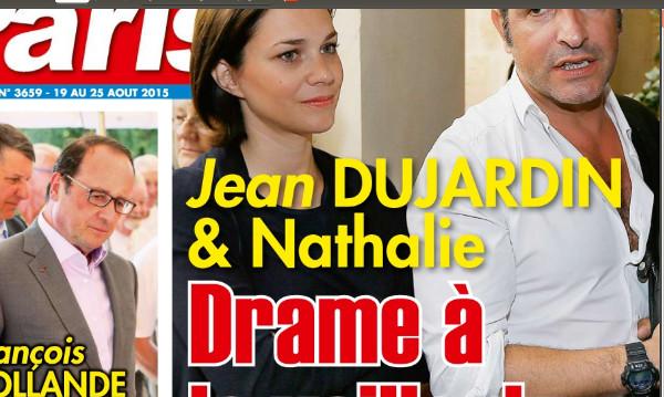 Jean Dujardin et Nathalie Péchalat, drame la veille de leur mariage selon  Ici Paris