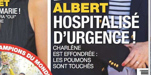 Albert de Monaco«hospitalisé d'urgence» selon France Dimanche