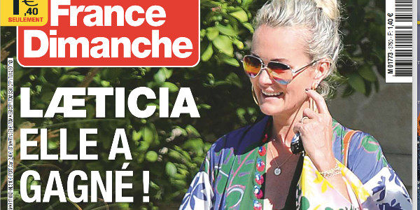 Laeticia Hallyday, «elle a gagné», selon France Dimanche