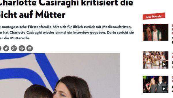 Charlotte Casiraghi, ses confidences «troubles» sur la grossesse et la maternité