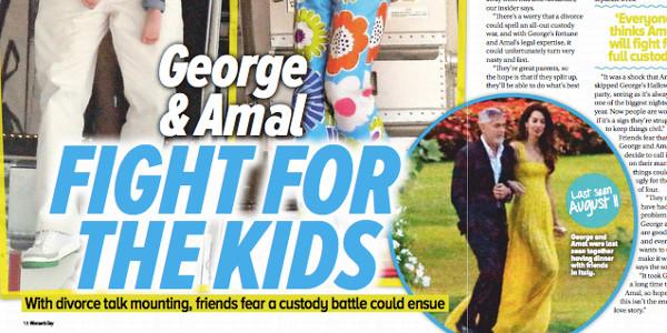 George et Amal Clooney «ambiance exécrable»,  une rude bataille pour leurs jumeaux (photo)
