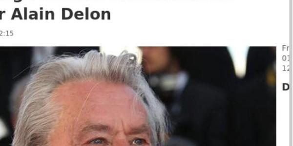 Alain Delon hospitalisé suite à une grave chute dans les escaliers