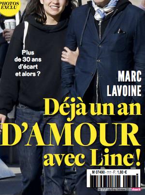 Marc Lavoine Deja Un An D Amour Avec Line Papin Photo