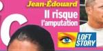 Jean-Edouard Lipa, Il risque l'amputation, (photo)