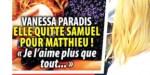 Vanessa Paradis de tout coeur avec Matthieu Chedid au fond du seau - Triste nouvelle