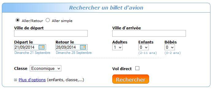 Jetcost - Rechercher un billet d'avion