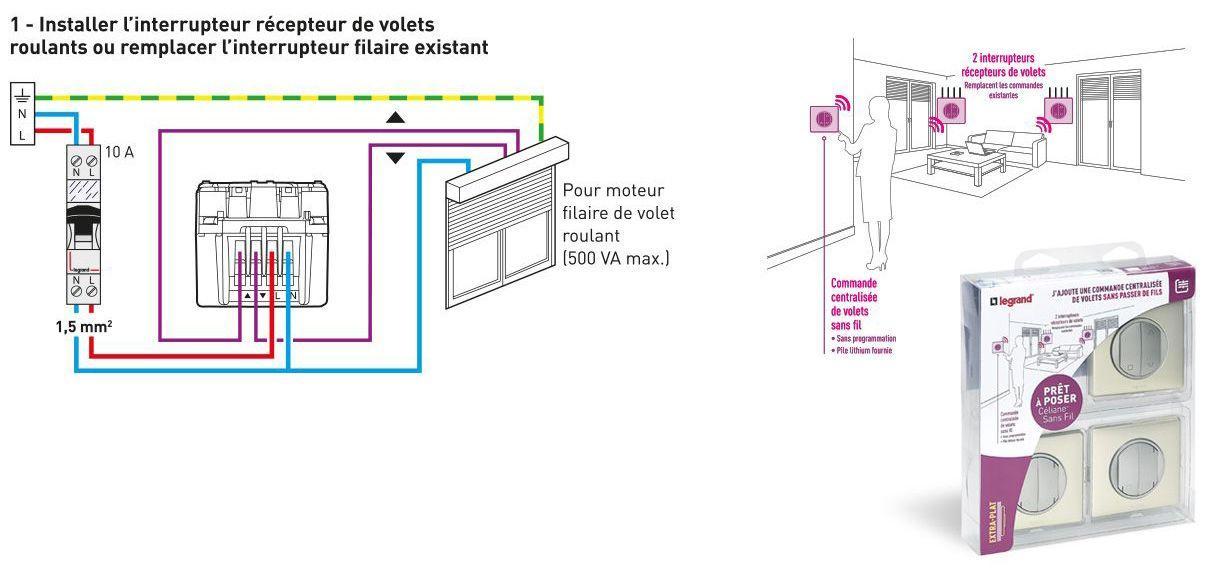 Legrand Commande Poussoir De Volet Roulant Celiane Bricolage Electricite