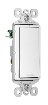 radiant® 15A 3Way Lighted Switch, White   Legrand
