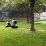Promenade au parc de sculpture de Jing'an