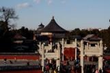 Vue sur l'enfilade des pavillons depuis l'autel du Tertre Circulaire