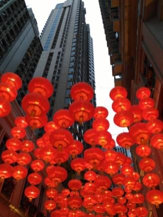 Des lanternes